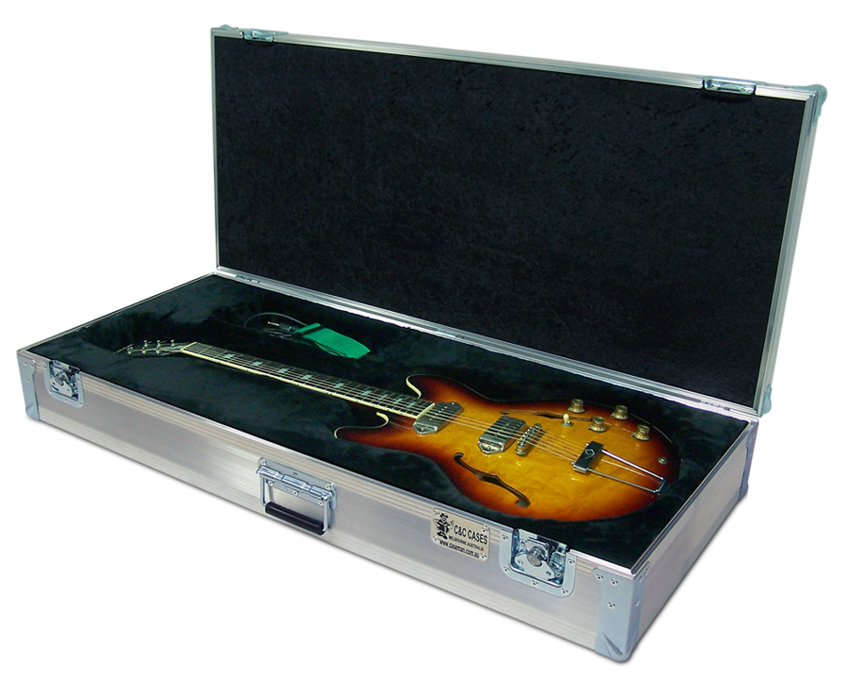 Custom made Epiphone Casino guitar case by C and C Cases.