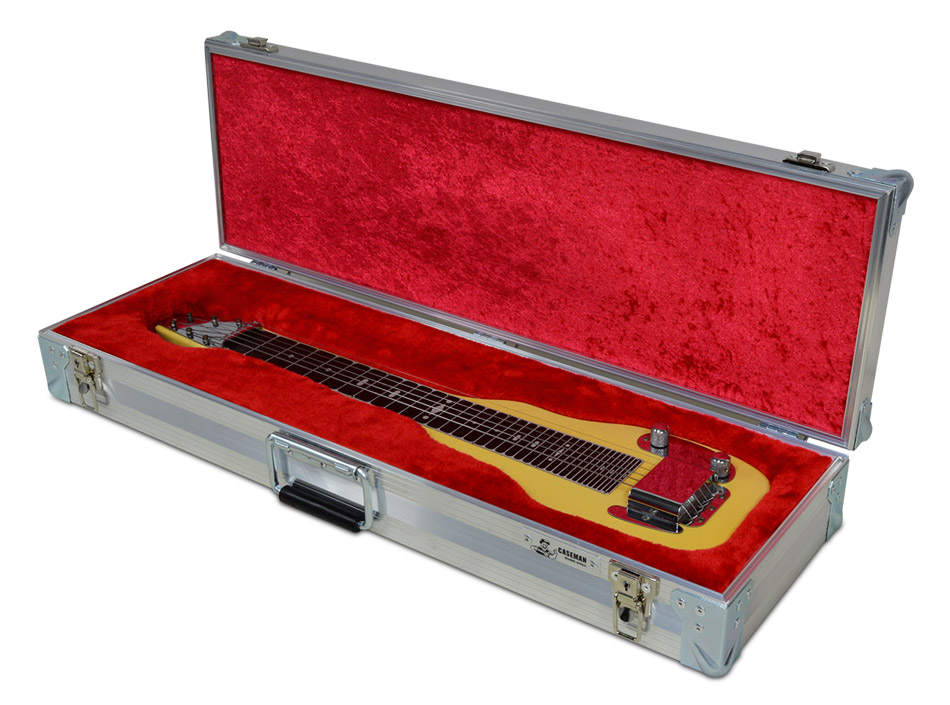 Custom made 1954 Fender Champion slide guitar case by C and C Cases.