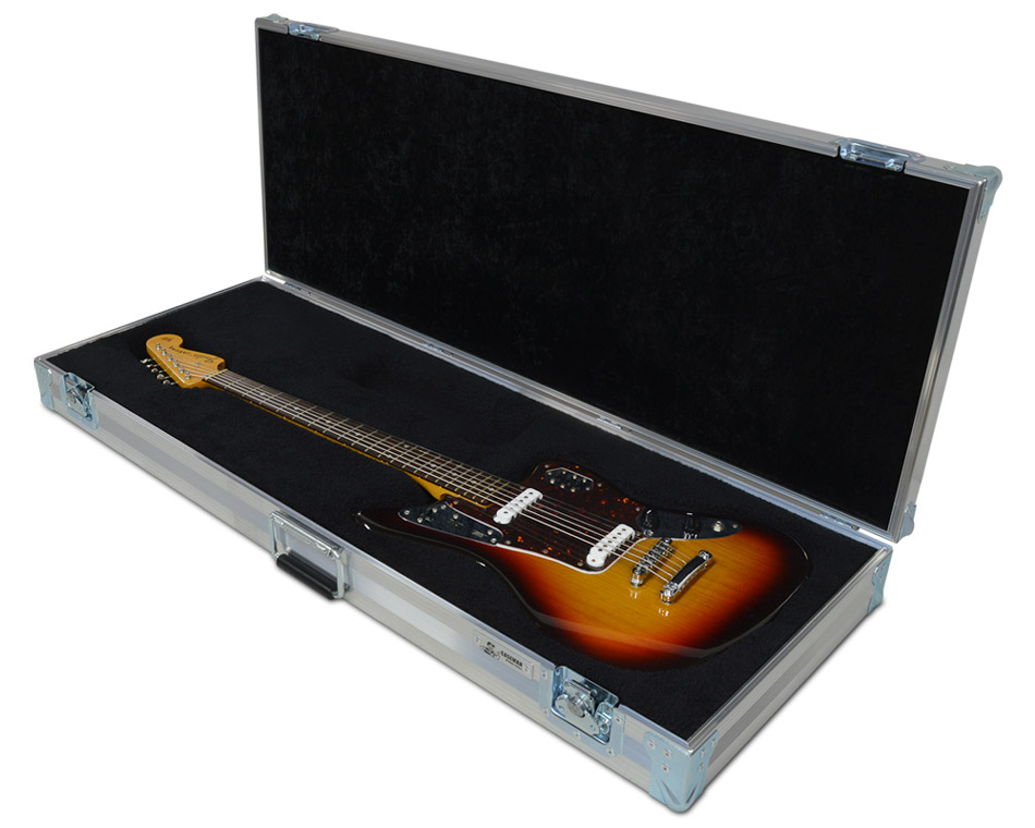 Custom made Fender baritone Jaguar guitar case by C and C Cases.