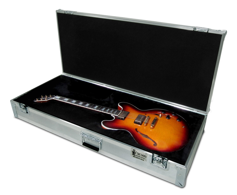 Custom made Gibson 355 guitar case by C and C Cases.
