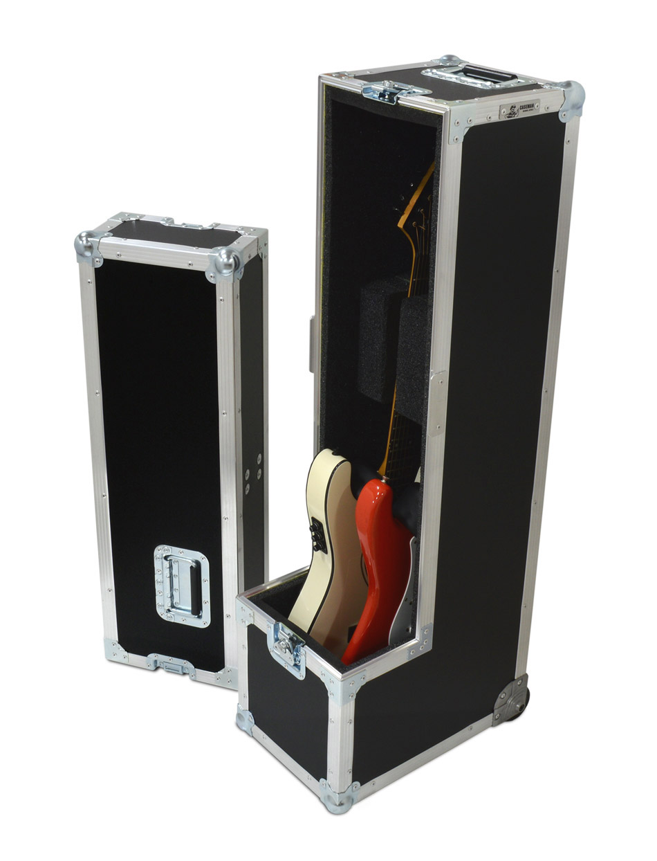Double guitar case to house Strats, Les Pauls, SG's or Telecasters.